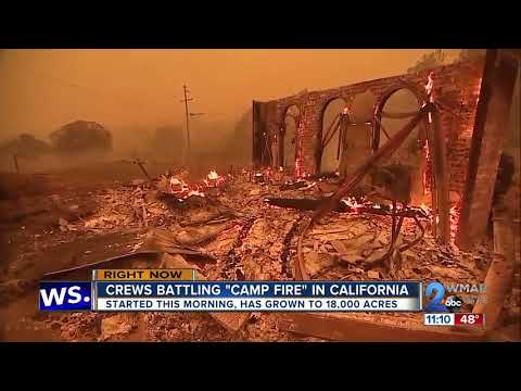 Fires rage near Los Angeles