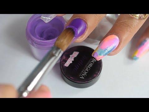 Videos de uñas - uñas acrilicas como cambio de diseño fácilmente uñas primaverales y de colores paso a paso