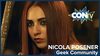 MYTHICA: Nicola Posener talks about the geek community - Mythica: A Quest for Heroes NOW on CONtv