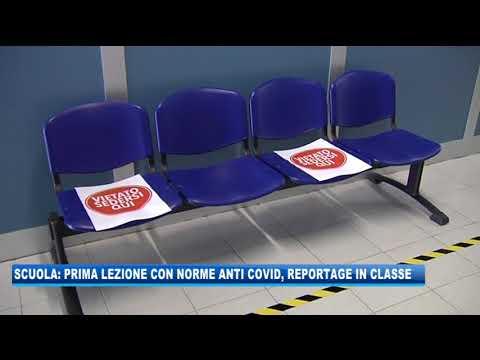 07/09/2020 - SCUOLA: PRIMA LEZIONE CON NORME ANTI-COVID, REPORTAGE IN CLASSE