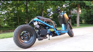 9. Honda Ruckus Stretched & Lowered Walk Around *Tons of Upgrades*
