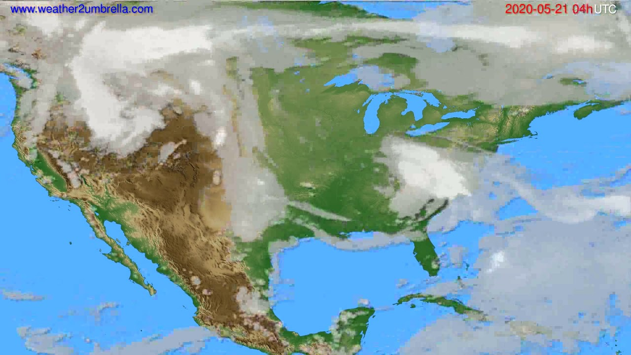 Cloud forecast USA & Canada // modelrun: 12h UTC 2020-05-20
