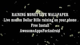 Raining Money Live Wallpaper YouTube video