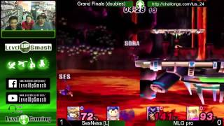 Level Up Smash 2.4 Doubles Grand Finals! Ses and Harmak vs Sora and Numerics!