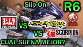 Yamaha R6 Yoshimura VS Two Brothers VS Scorpion Escapes Sonido