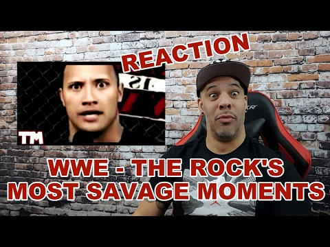 WWE THE ROCK'S MOST SAVAGE MOMENTS | REACTION!!!