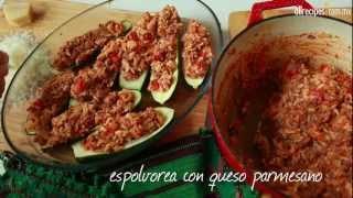 Cómo hacer calabacitas rellenas de carne
