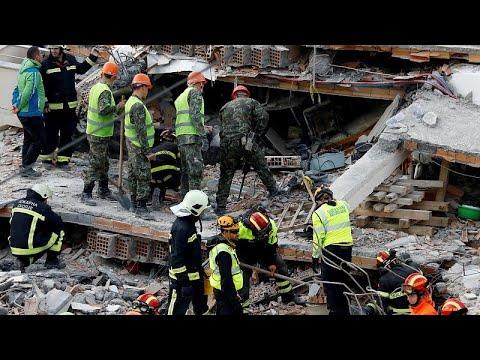 Σεισμός στην Αλβανία: Μάχη με τον χρόνο για τον εντοπισμό επιζώντων – Στους 40 οι νεκροί…