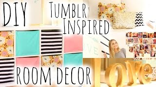 DIY Room Decor & Organization Inspired by Tumblr! | Aspyn Ovard - YouTube