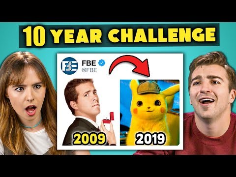 College Kids React To #10YearChallenge 2009 vs 2019