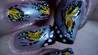 Butterfly Video Nail Art Tutorial