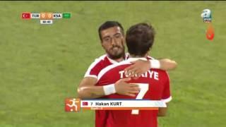 """#Deaflympics2017""""Hakan Kurt çok şık bir gole imza atıyor. Millilerimiz 1-0 önde"""""""