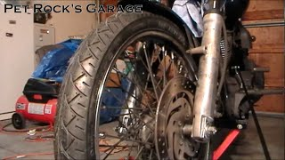 10. How To Remove & Install Front Wheel - Harley Davidson Softail