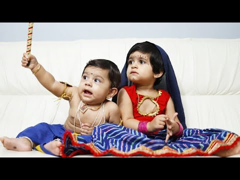 Ayra Yash and Junior Yash Celebrates Krishna Janmashtami | Rocking Star Yash Daughter and Son