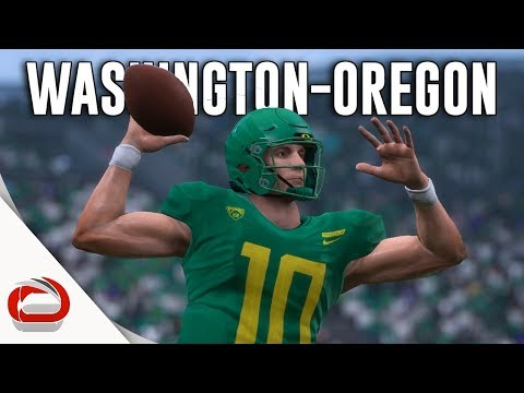 🏈 Rivalry Game - Washington Huskies vs Oregon Ducks - NCAA Football 20 - Madden 19 Mod