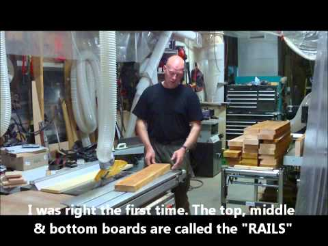 making doors - The construction process for making solid wood interior doors (bedroom,bathroom etc..) I this case they are being made from some pretty rough lumber (crooked...