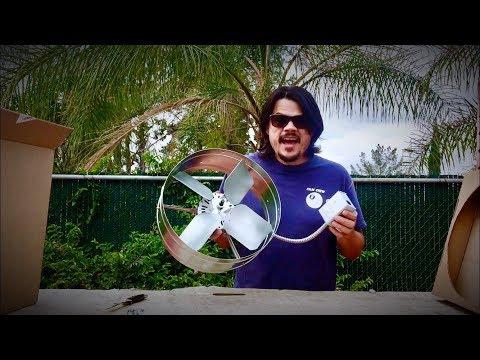 Cool Attic Exhaust Ventilator Fan Install or Whole House Fan