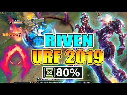 KHÓC THÉT VỚI SỨC MẠNH CỦA RIVEN TẠI CHẾ ĐỘ URF 2019 - Thời lượng: 22 phút.