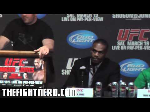 UFC 128 New York Press Conference highlights