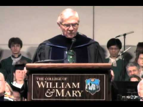 W&M commencement 2013: Reveley's closing remarks