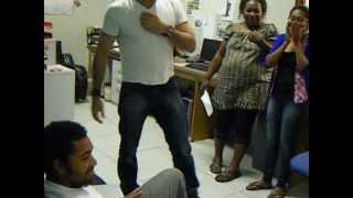 Mentalist Phoenix Hypnotizes PNG FM Host Dougie/Brian