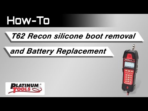 T-62 Recon silicone boot removal and battery replacement