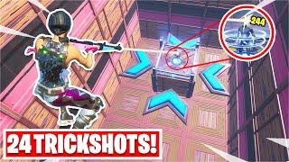 i hit 24 TRICKSHOTS in this crazy Deathrun... (Fortnite Creative)