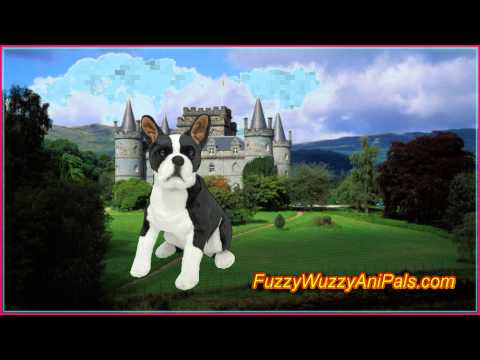 Plush Boston Terrier Lifelike Stuffed Animal