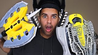 LINK TO MY NEW CHANNEL!! GO SUBSCRIBE!!! - https://www.youtube.com/channel/UCdlxSLLGpal_K3AoBVyE8SgMOST DANGEROUS TOY OF ALL TIME 4.0!! (EXTREME NERF GUN / ZING BOW EDITION!!) MELEE EDITION!!! In this video Marcus (ADHD) and Matt play with Nerf guns, Zing Air Storm, and CURVE BOWS YET AGAIN!! in one of the stupidest ways ever! By attaching actual blades, nails, and more! PLEASE GUYS!! NOBODY ATTEMPT THIS AT HOME!Nerf Zombie Strike Strike Blade Toy - http://amzn.to/2qlqNeKNerf Zombie Strike Hammershot Blaster - http://amzn.to/2ralCiPNerf N-Force Battlemaster Mace Axe - http://amzn.to/2qKJE4aNERF N-Force Klaw Hatchet - http://amzn.to/2rjSTV6MY GEAR!! -Camera US: http://amzn.to/2qk2v5oMicrophoneUS: http://amzn.to/2qnR0qMLens US: http://amzn.to/2quwoMNSD CardUS: http://amzn.to/2pNwnY4Become My Friend On Social Media :D Snapchat - MarcusJXDTwitter - https://twitter.com/ADHDsWorldInstagram - https://www.instagram.com/adhdsworld/WANT TO SEND FAN MAIL??? I OPEN EVERY ITEM ON MY VLOG CHANNEL!!!P.O. Box Adress:Marcus JonesP.O. Box 1421Whittier, CA90609-1421