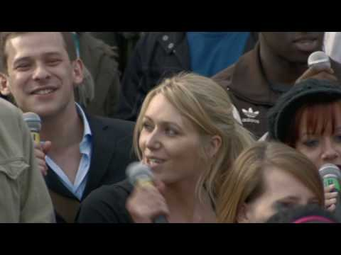 singalong - The exclusive 4 minute extended version of the moment 13500 people sang Hey Jude together in Trafalgar Square. Everyone involved arrived thinking they could...