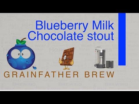 Blueberry Milk Chocolate Stout Grainfather brew 4k HD