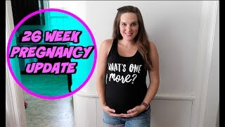 This is my 26 week pregnancy update. Some of the symptoms for this week include braxton hicks contractions, hair loss, round ligament pain and more. Please subscribe to watch our family grow!Our last video: I THOUGHT I LOST MY KID: https://youtu.be/hD7IzQbNcfITwitter: https://twitter.com/itsourwlifeEmily and Will WallaceP.O. Box 323Auburn, NY 13021Pregnancy videos:Twins Birth Vlog: https://youtu.be/cdOwhukYUlQEPIC TWINS GENDER REVEAL: https://youtu.be/qCPSkmyDg2UFamily's Reaction to Twin Announcement: https://youtu.be/rhxV6mc2cswChallenge videos:MY HUSBAND DOES MY MAKEUP CHALLENGE: https://youtu.be/jzNzmfTupKsBEAN BOOZLED JELLY BEAN CHALLENGE: https://youtu.be/vIOcmPyCVegVlog videos:A DAY IN THE LIFE OF A MOM  OF TWO: https://youtu.be/dlUhrvR1P-cHANDING THE CAMERA OVER TO A TWO YEAR OLD: https://youtu.be/49Uzbk13Y8oTODDLER TESTING THE LIMITS AT THE POND: https://youtu.be/ksAQY1sMKnATASTE TESTING A NEW ICE CREAM FLAVOR: https://youtu.be/RAa0pi7q7hQOUR KIDS BEDTIME ROUTINE: https://youtu.be/aDSGbEJfxdQ