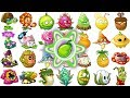 All Premium Plants Power Up In Plants Vs Zombies 2 Chinese Version