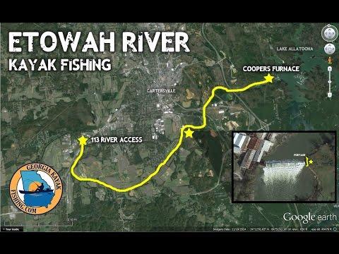 Etowah River Kayak Fishing - Georgia Kayak Fishing (GKF) Shootout