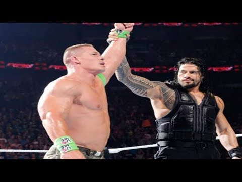 WWE Raw Roman Reigns, John Cena defeat The Miz, Samoa Joe