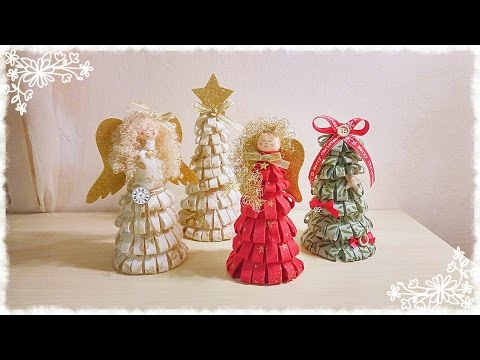 alberello di natale in feltro senza cucire - decorazioni natalizie