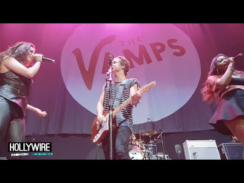 perform - Fifth Harmony & The Vamps Perform 'Somebody To You' Together! Subscribe to Hollywire   http://bit.ly/Sub2HotMinute Send Chelsea a Tweet!   http://bit.ly/TweetChelsea Follow Hollywire!  ...
