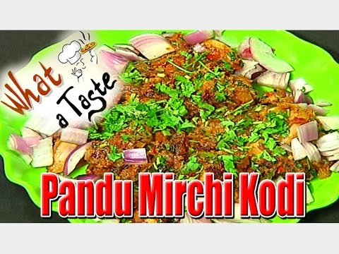 Pandu Mirchi Kodi Recipe || What A Taste || Vanitha TV 08 February 2016 04 53 PM