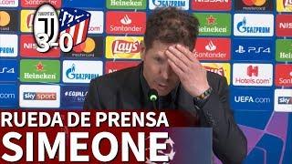 Juventus 3 - Atlético 0   Rueda de prensa de Simeone   Diario AS