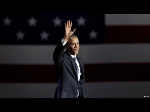 Прощание президента Обамы (видео)
