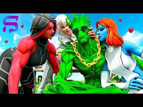 HULK GROOT MAKES all the GIRLS FALL IN LOVE.... ( Fortnite Short)