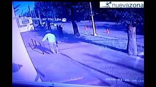 Un policía salva a un niño en María Grande