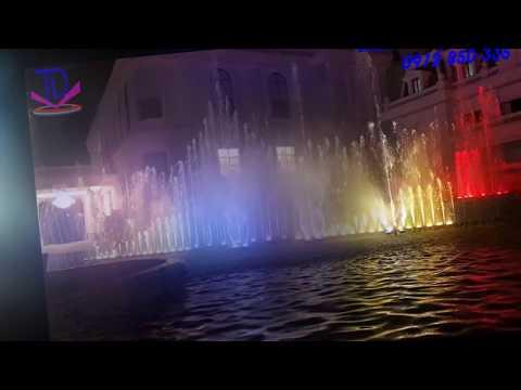 Thi công nhạc nước nghệ thuật khách sạn Hoàng Nhâm - Lai Châu