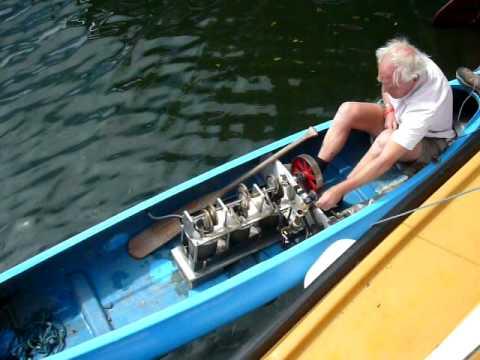 Stirling Engine Powered Canoe