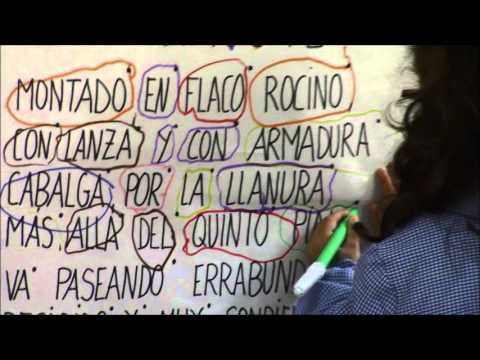 Lectoescritura Poesía de Don Quijote