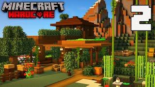 ENCHANTMENT FARM BUILDING/CAFE - Minecraft Hardcore Survival (EPISODE 2)