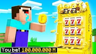 Minecraft NOOB Coin flips 100 MILLION! (funny challenge)