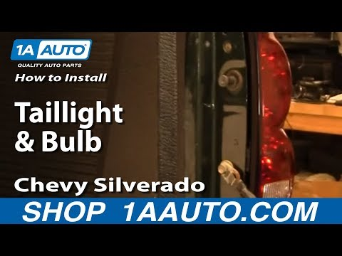 How To Install Replace Taillight and Bulb Chevy Silverado 04-07 1AAuto.com