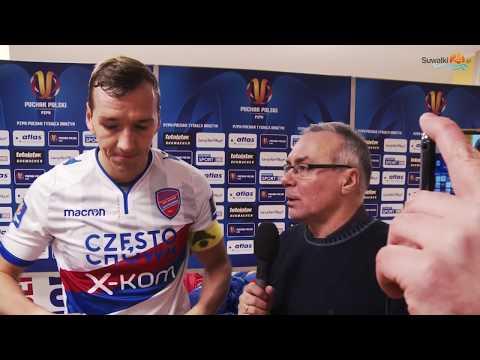 Wigry Suwałki - Raków Częstochowa 0:3 i żegnaj Pucharze Polski. Lider udzielił lekcji