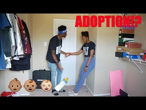 PUTTING OUR CHILD UP FOR ADOPTION PRANK ON BOYFRIEND!!!